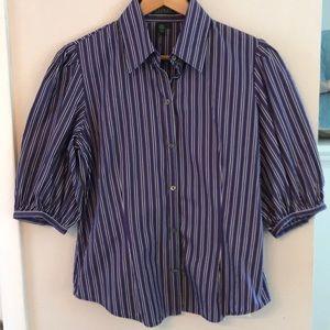 Ralph Lauren purple & black striped top